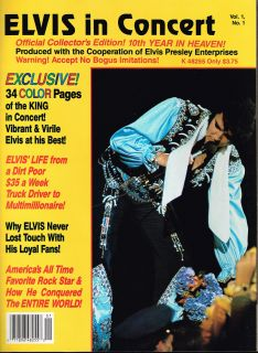 Elvis in Concert Magazine Vol 1 Number 1 1987