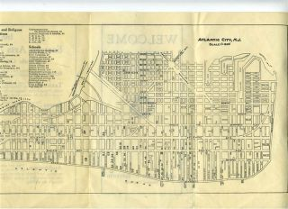 1931 Atlantic City Map and Guide for Eastern Arts Association