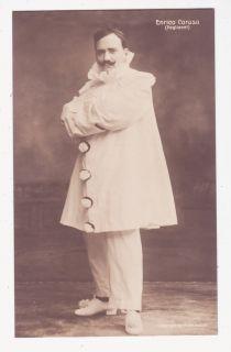 ENRICO CARUSO as Canio in Pagliacci vintage opera star photo postcard