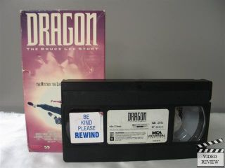 Dragon The Bruce Lee Story VHS 1993 Jason Scott Lee 096898148030