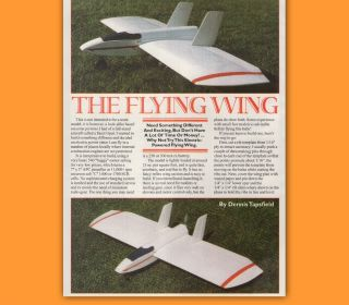 Radio Control Plan FLYING WING RC electric Model Airplane Plans
