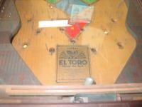 Warren Novelty Co El Toro Pinball Machine Coin Op Arcade Game Vintage