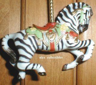 Lenox Porcelain Zebra Carousel Horse Holiday Christmas Tree Ornament