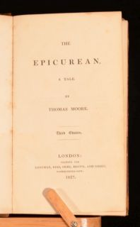 details the epicurean is a novel by thomas moore published