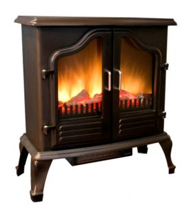 New Portable 750 1500 Watt Electric Fireplace Stove Fan Forced Heater