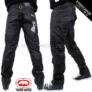 Ecko Unltd Wet Look Merc Jeans Marc Coated Denim Relax Fit Hip Hop
