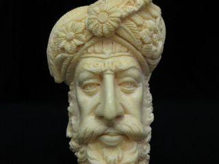 Giant Size Ottoman Pasha Block Meerschaum Pipe 煙斗 Schiuma Di Mare