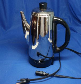 GE GENERAL ELECTRIC 12 Cup Coffee Maker Percolator READY INDICATOR