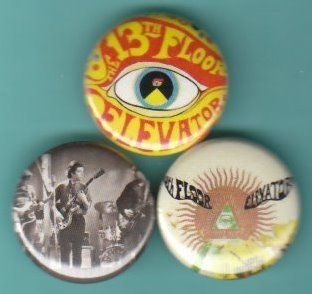 13th Floor Elevators Set of 3 Buttons Pins Badges Psych