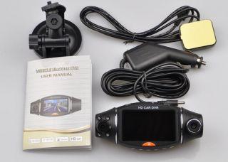 Dual Lens Camera Vehicle Car DVR Recorder GPS G Sensor Blackbox Night
