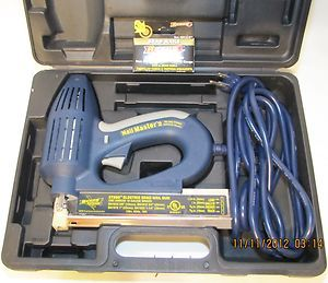 ARROW ET200 NAIL MASTER 2 ELECTRIC BRAD NAIL GUN +CASE & NAILS~NAILER