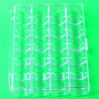 Empty Storage Case Box 24 Cells for Nail Art Tips Gems