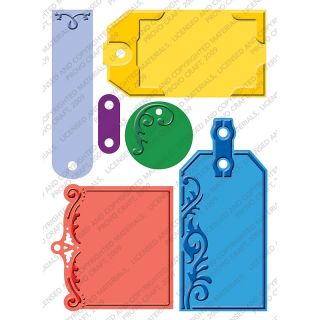 Cuttlebug Plus Embossing Folder, 5 x 7in   Embossed Tags at