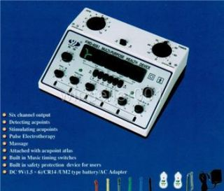 acupuncture machine electric massager 6 output patch