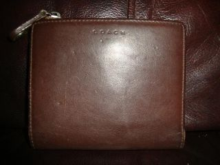 Brown Vintage Leather Coach Wallet Coin Purse
