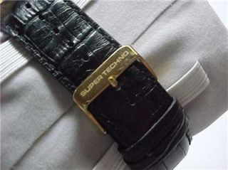 super techno gold plated stainless diamond watch