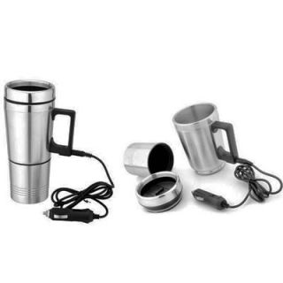 Large Stainless Steel Electric Heated Cup 12V Car Travel Mug