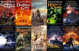 Steven Erikson Malazan Book of the Fallen Complete Paperback Set 1 10