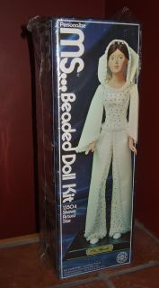 Vintage 1975 Walco MS Wendi Beaded Sequin Doll Kit
