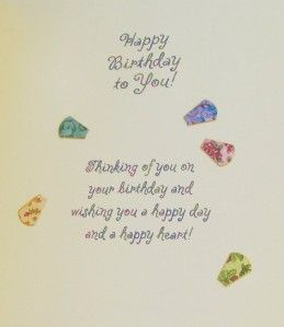 Carol Wilson Happy Birthday Card Dresden Quilt Pattern