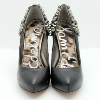 FDW Womens $225 New Sam Edelman Roza Black Spike Heels Shoes Pumps