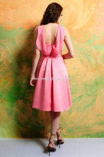 SHORT/KNEE LENGTH SATIN MOB/MOTHER BRIDE/GROOM DRESS   SIZE 10