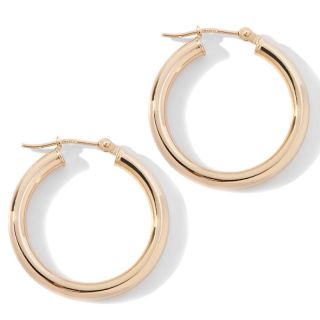 Jewelry Earrings Hoop 14K Yellow Gold 4x30mm Polished Hoop