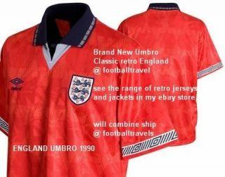 XL XXL England Umbro Retro Away 1990 Shirt Jersey Soccer Football