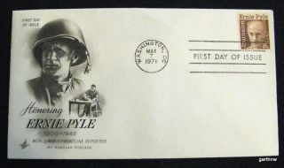 Ernie Pyle 1971 First Day Cover World War II Frontline Reporter Art