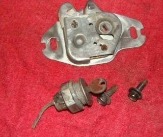 Mopar 73 76 Dodge Dart Trunk Lock Mechanism and Latch