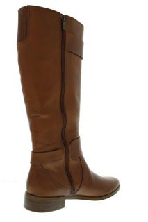 Ellen Tracy New Baxter Brown Leather Buckle Knee High Riding Boots