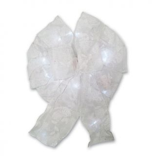 Winter Lane Battery Operated 15 LED Bow Light   Wedding Pearl