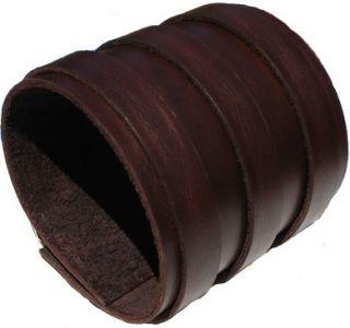 Mahogany Leather Wristband Cuff Elliott Smith 3 Wide Bracelet Wrist