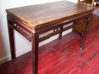 Antique Chinese Black Lacquered Hall Way Table