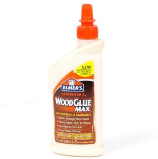 Lot of 7 Bottles of Elmers Waterproof Stainable Wood Glue Max