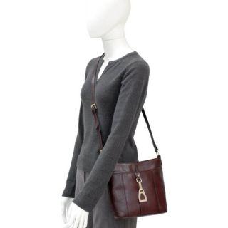 Etienne Aigner Velden Saddle Brown Leather Handbag Crossbody Office