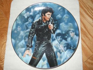 Elvis Collector Plate 68 Comeback Special SN 1253E 1990 with COA