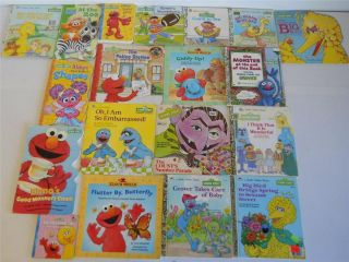 Sesame Street Childrens Educational Books Big Bird Golden Books