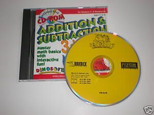 Dinosoft Educational Software Add Subtract Math PC Game