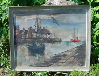Estate Impressionistic Oil Painting by Listed Artist Edward M Griff