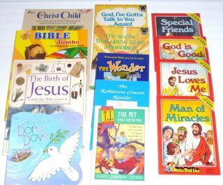 Book Lot 13 Kids Christian Religious Books See Description for Titles