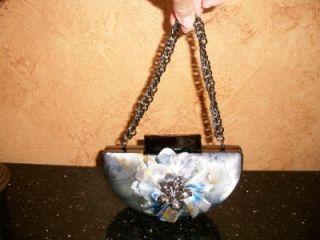 Mary Frances Aria Clutch Evenin Zip Bag Tote Satchell Shoulder Bag