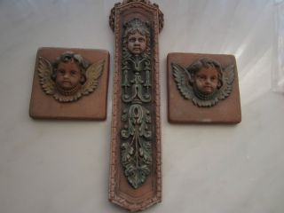 ELLISON TILE SET OF THREE HIGHLY COLLECTIBLE HAND PAINTED WORKS OF ART