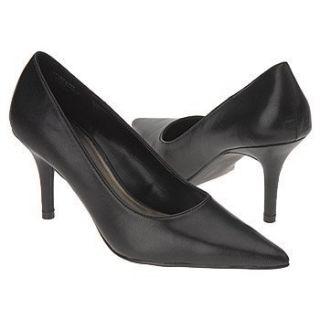CONNIE EVA BLACK Leather WOMENS PUMPS HEELS SHOES size 9 5 NEW