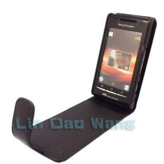 For Sony Ericsson Xperia x8 Walkman W8 E16I Leather Case Cover Pouch