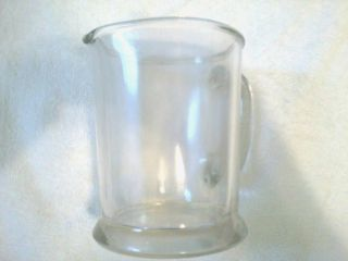 Vintage Glass Water Pitcher Hazel Atlas Glass Pitcher Beer Pitcher