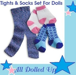 American Girl Tights Socks Set for Dolls New in Box