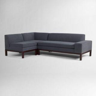 REDUCED WEST ELM LORIMER SECTIONAL SOFA COUCH MARLED MICROFIBER