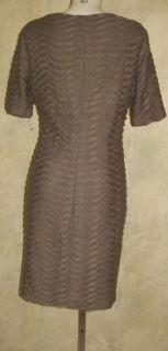 Evan Picone Charcoal Pleat Knit Dress Sz 16 $99