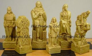 Medieval Times Irish Celtic Viking Chess Men Set New
